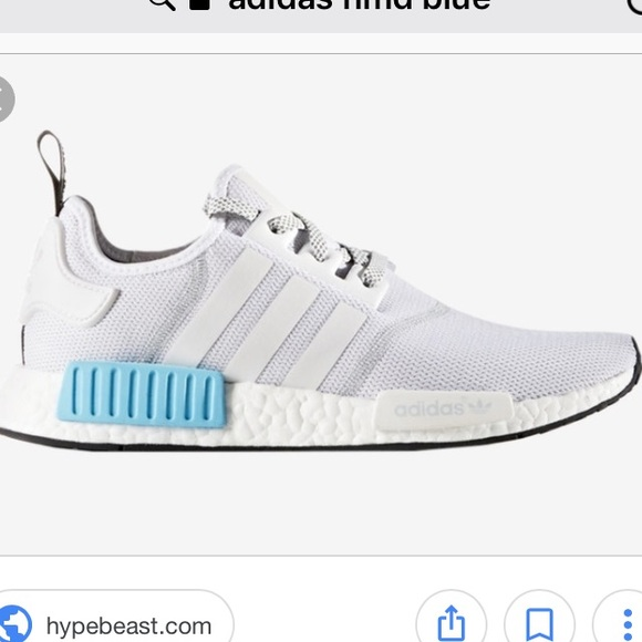 buy online c91e0 e2502 ISO gray and blue adidas NMDs NWT